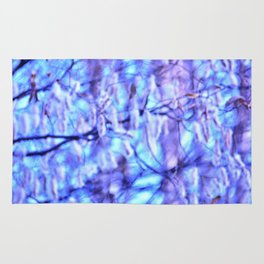 Blue Violet Autumn Rug