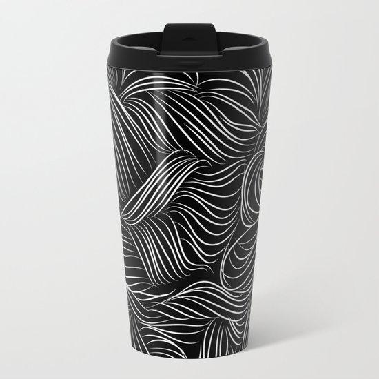 crazy lines Metal Travel Mug