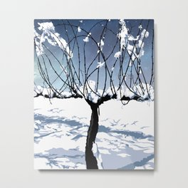 """Winter in the Vineyard"" Metal Print"