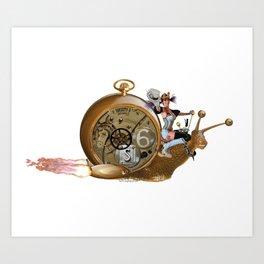 S6 Tee: Slowpoke The S6 Steampunk Snail Art Print
