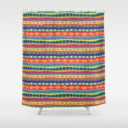 Stripey-Crayon Colors Shower Curtain