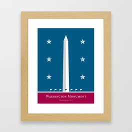 America: Washington Monument Framed Art Print