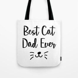 Dad Love Cat Fathers Day Cat Lover Pet Love Gifts Tote Bag