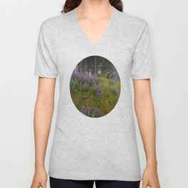 Bald Hill Lupines Unisex V-Neck