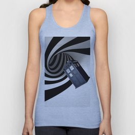 Tardis in the hole Unisex Tank Top