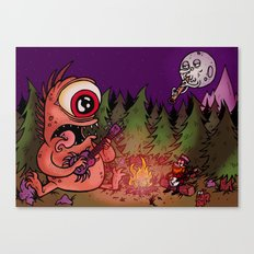 Campfire blues Canvas Print