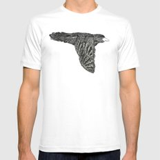 Escaped Bird Mens Fitted Tee White MEDIUM