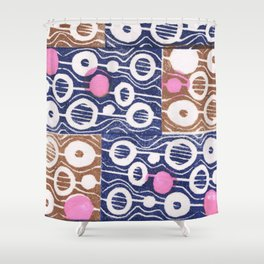 Hot pink dots Shower Curtain