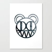 radiohead Canvas Prints featuring Radiohead by Skorokhodov Ivan
