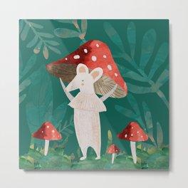 forest mushroom Metal Print