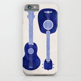 Indigo Blue Ukuleles iPhone Case