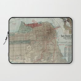 Vintage Map of San Francisco CA (1914) Laptop Sleeve