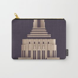 Empire State Building New York Art Deco - Vintage Dark Carry-All Pouch