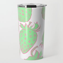 GREEN STRAWBERRIES Travel Mug