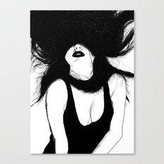 Pin Up White Version Canvas Print