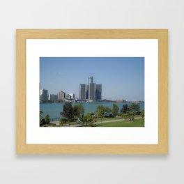 Detroit From Windsor Framed Art Print