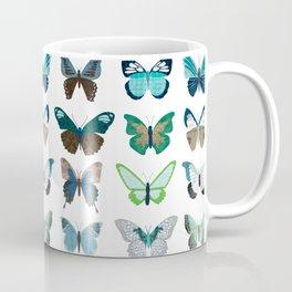Green and Blue Butterflies Coffee Mug