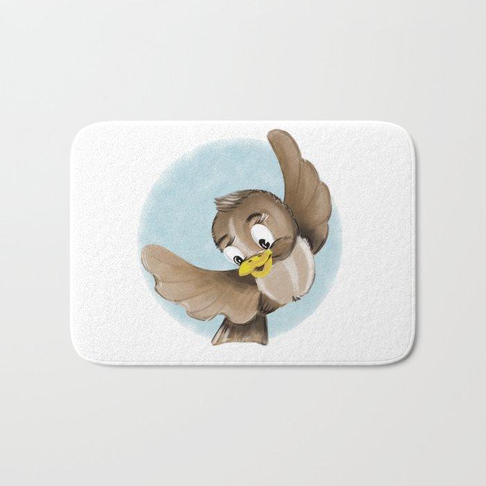 Smiling Bird Bath Mat