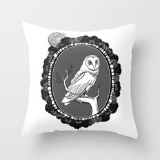 Night Owl Oval Throw Pillow