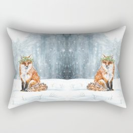 Waiting for the Holly King Rectangular Pillow