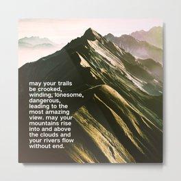Crooked Trails Metal Print