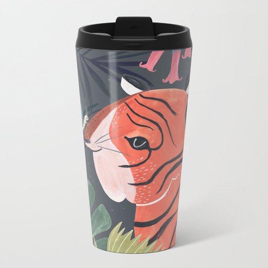 Sleepy Tiger Metal Travel Mug