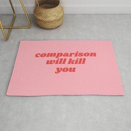 comparison will kill you Rug