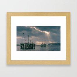 Cardiff Bay god rays Framed Art Print