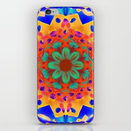 Abstract Flower ZZ WWWAAA iPhone Skin