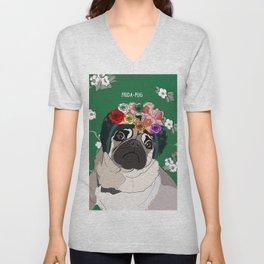 Frida-Pug Unisex V-Neck