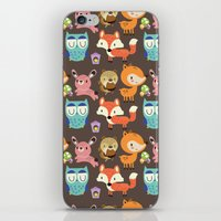 woodland iPhone & iPod Skins featuring Woodland by Maria Jose Da Luz