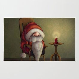 New edit: Little Santa in his rocking chair Rug