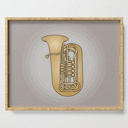 Tuba brass Serving Tray