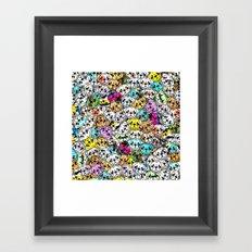 Gemstone Pugs Dogs Framed Art Print