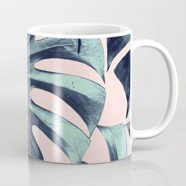 Tropical Monstera Leaves Dream #3 #tropical #decor #art #society6 Coffee Mug