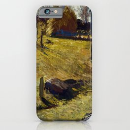 """George Wesley Bellows """"Haystacks and Barn"""" iPhone Case"""