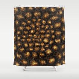Gold Seke Sea Shell Shower Curtain