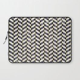 Herringbone in black and white Laptop Sleeve