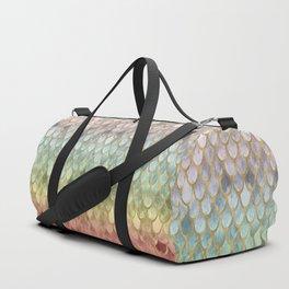 Rainbow Marble Mermaid Scales Duffle Bag