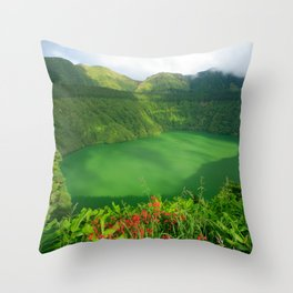 Lake in Azores Throw Pillow