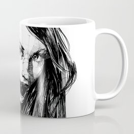 Ball Gagged Lady Portrait ©Yury Fadeev Coffee Mug