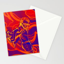 For Funsies in blue and orange Stationery Cards