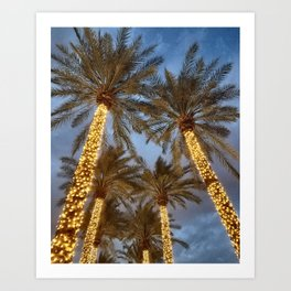 Palm Tree Paradise Art Print