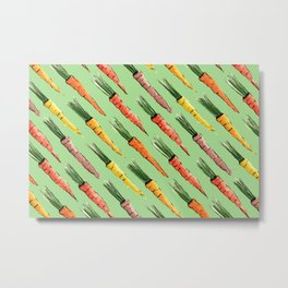 Happy colorful carrots pattern Metal Print