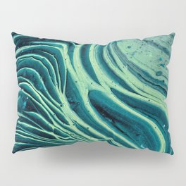 Lagoon Acrylic Tree Ring Pour Painting Pillow Sham