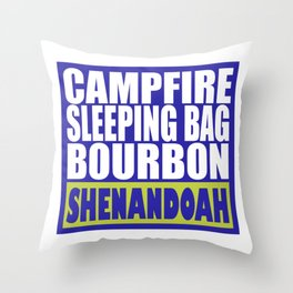 Campfire, Sleeping Bag, Bourbon, Shenandoah Throw Pillow