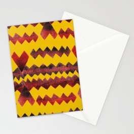 Ethnic diamond Stationery Cards