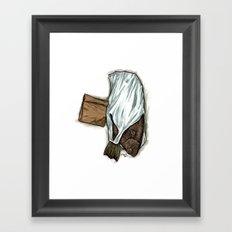 Flatfish and mushrooms. Framed Art Print