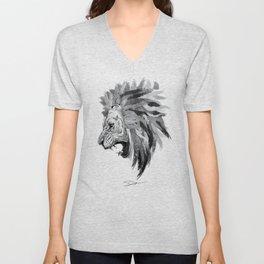Lion - The king of the jungle Unisex V-Neck
