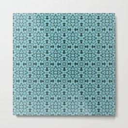Island Paradise Geometric Pattern Metal Print